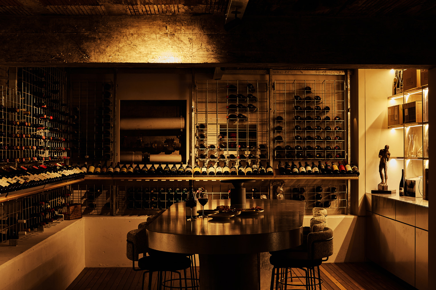 The cellar at Little Prince Wine